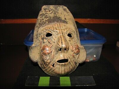 Pre Columbian, Pottery, Tested, Ceramic Mask, W/Mex, Possible S/Amer  + 800 1500