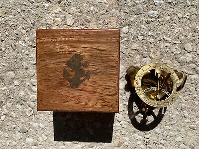 Small Stanley London Sundial Compass Antique Brass