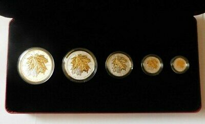 2014 Royal Canadian Mint Fine Silver Fractional Set:the Maple Leaf