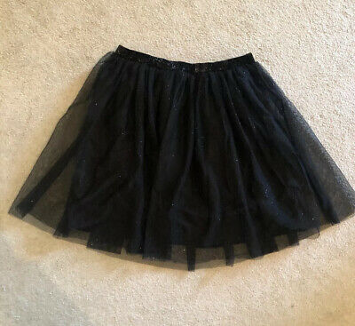 Girls Skirt Black Party Skirt *NEW* Age 11 To 12 Years H&M Tutu Style Sparkly
