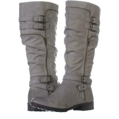White Mountain Womens Remi Round Toe Knee, Charcoal/Burnished Smooth, Size 7.0 j
