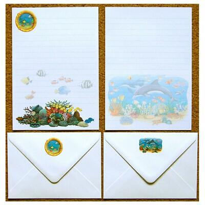 Ocean Scene Under the Sea Letter Writing Paper Stationery Set