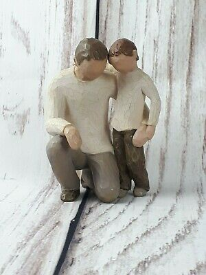 Willow Tree Father Son Grandparent Figurine Figure Ornament Family Gift Clay