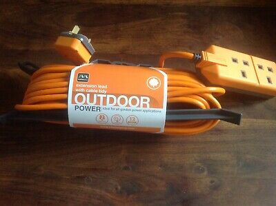 MASTERPLUG EXTENTION 15m WITH CABLE TIDY NEW DOUBLE PLUG