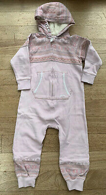 Girls Next Pink All In One/lounge Wear/jumpsuit/ Tracksuit. Age 3-4 Years.