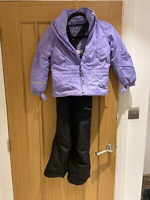 Girls Poivre Blanc Ski Jacket Age 6  And Dare2b Trousers Age 5-6