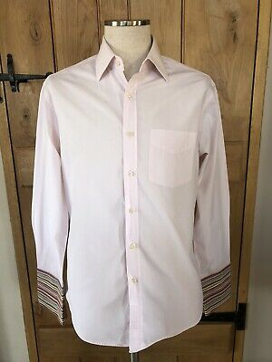 "Stunning Mens Paul Smith Pink Long Sleeved Dress Shirt 16"" Neck 42""-44"" Chest"