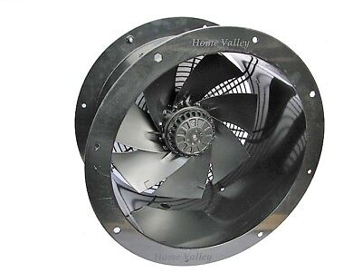 "Industrial Commercial Cased Axial Extractor Duct Fan 300mm (12"")"