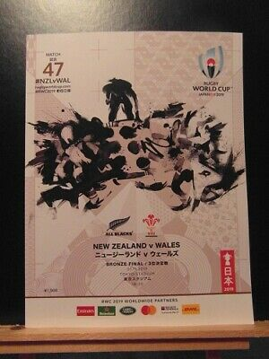 2019 World Cup New Zealand V Wales 3Rd Place Playoff   Rugby Union Programme