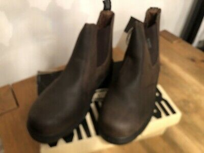 Mens Contractor Safety Boots Size 10 Brown
