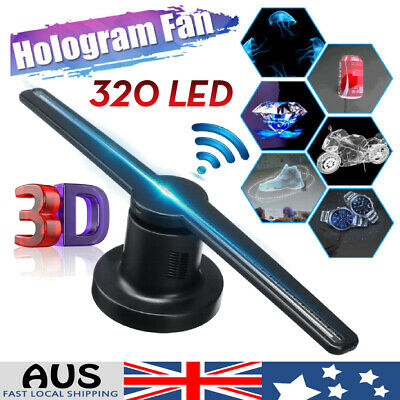 320 LED 3D WiFi Fan Lamp Hologram Display Holographic Projector Advertising AU
