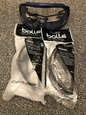 bolle safety goggles And Glasses  Cobra & Tracker X 3 Pair