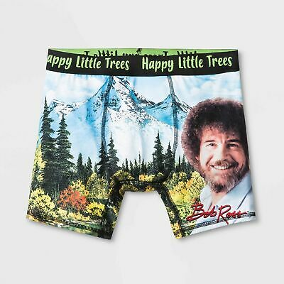 Men's Bob Ross Boxer Briefs - Black