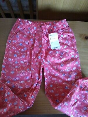Lovely Little Girl Summer Trousers, 2-3yrs, Coral, BNWT