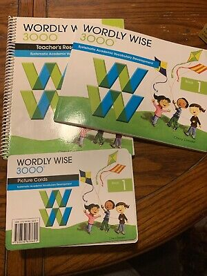 Worldly Wise 3000 Book 1 Student & Teachers Book Concept & Picture Cards