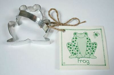 Ann Clark Frog Tin Plated Steel Cookie Cutter & Recipe Card Brand New