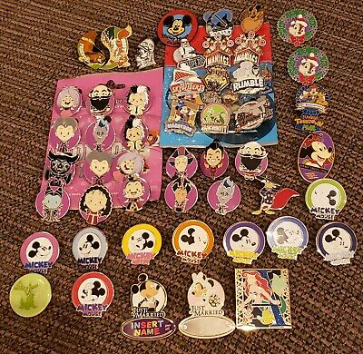 DISNEY Lanyard Pin Trading Lot 50 Open Edition OE  Mickey Villains DCL Ariel LE