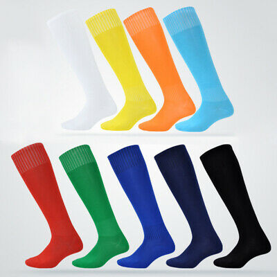Mens Plain Football Socks Soccer Hockey Rugby Sports School Long Tube Socks