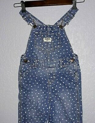 Kids blue Denim Bib Overalls Osh Kosh B'Gosh Size 4T  Boys Girls. Polka dots.