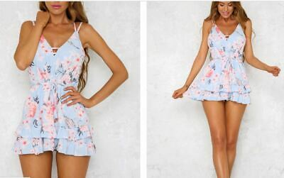 Hello Molly floral short playsuit S 8