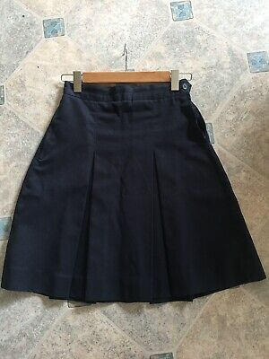 Girls school skirt navy blue PSW brand size 12, 2 pleats