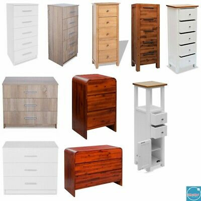 Solid Wooden Chest of Drawers Tallboy Chest Storage Cabinet Plant Display Stand