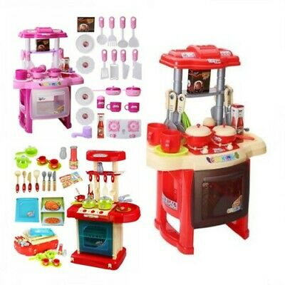Electronic Kitchen Cooking Toy Set Toddler Kids Cooker Pretend Role Play Gift UK