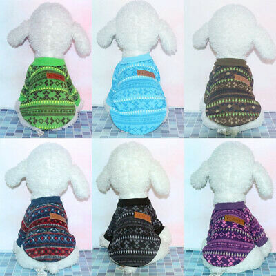 Dog Warm Knitted Sweater Coat Chihuahua Clothes Pet Puppy Cats Jumper Yorkie