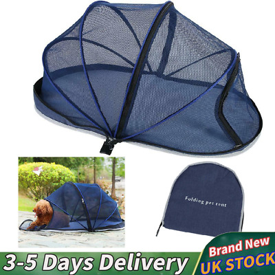 Portable Foldable Pet Dome Tent Dog Cat Camping Mesh Net Shelte Hood with zipper