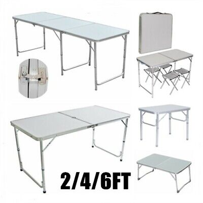 NEW 2/4/6FT Folding Table Portable Camping Picnic BBQ Garden Party Trestle Table