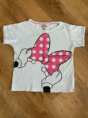 Girls M&S Minnie Mouse Short Sleeve Pyjama Top pj - Age 11-12 Years