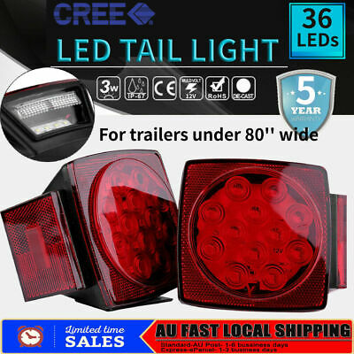 2x 36 LED Tail Lights Square Turn Signal Stop Indicator Light Trailer Truck fh