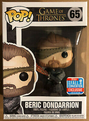 Funko Pop BERIC DONDARRION 65 Convention Exclusive - Game of Thrones MINT BOX