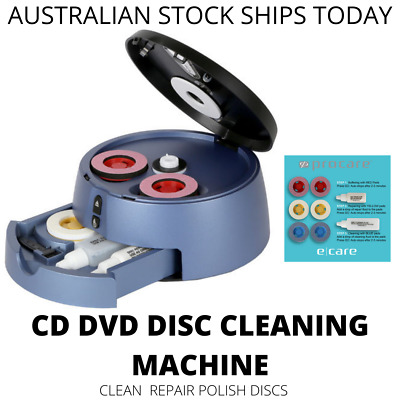 CD Cleaning Scratch Repair Machine CD-R CD-RW DVD CDROM Clean Fix Scratches
