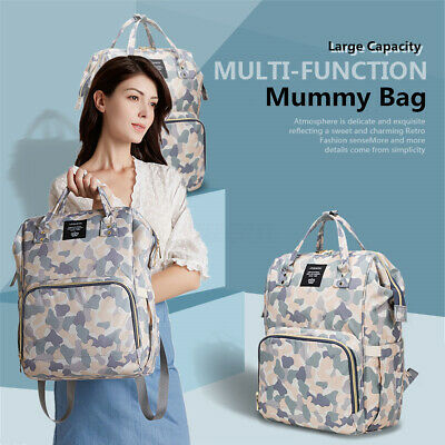 LEQUEEN Baby Diaper Bag Mummy Maternity Nappy Backpack Travel Handbag Large US