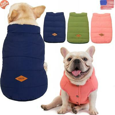 ✅Winter Warm Padded Dog Clothes Waterproof Pet Fur Coats Vest Jacket for Dogs ✅