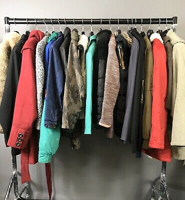 Joblot Wholesale Bundle 20 Pcs Used Jackets Coats Anoraks Winter (J5)