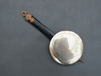 Vintage wood and metal wall clock pendulum - spares parts