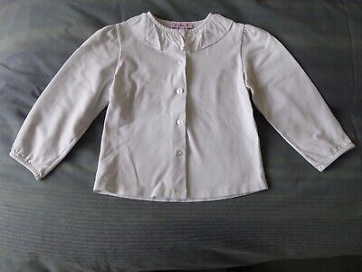 Trotters Confiture Girls White Willow Jersey Blouse - Great Cond. - 4/5 Years
