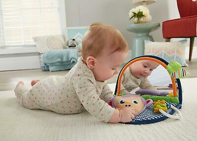 New Fisher-Price MONKEY MIRROR Tummy Time Fun Baby Toy Soft Cuddly Jingly Rattle