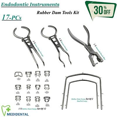 RUBBER DAM Instruments Tools Kit Dentistry Equipments