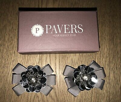 Pavers Silver And Grey Decorative Shoe Clip/Charm New