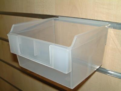Pack of 10 Retail Clear Finish Slatbox Divider D for Slatwall