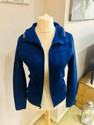 Musto Blue Hooded Jacket Hoody Size 10 Equestrian Sailing