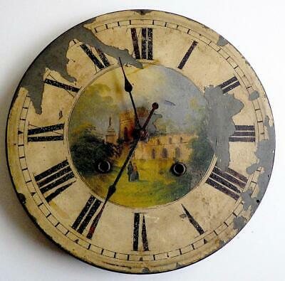 Victorian Hand Painted Wall Clock   With Quartz Movement Looks Really Good