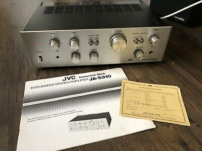 JVC JA-S310 Rare Audiophile Stereo Integrated Amplifier Great looks Instructions