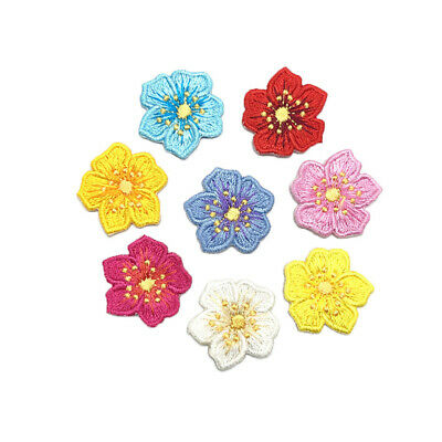 10PCS Small Colorful Flower Patches Clothing Embroidery Iron/Sew On Applique DIY