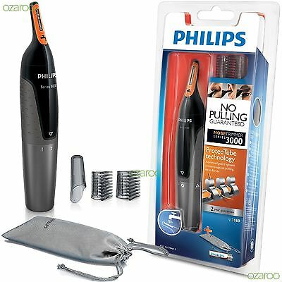 Philips Series 3000 Mens Nose, Ear and Eyebrow Hair Foil Trimmer Kit - NT3160/10