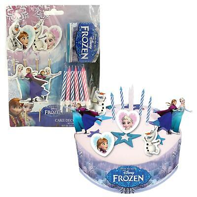 Official Disney's Frozen Birthday Cake Decorating Kit Candles Elsa Anna Olaf