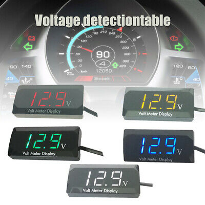 Car Motorcycle 3-digit LED Digital Display Voltmeter Accurate Measure DC Voltage